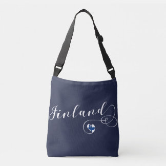 Finland Heart Bag, Finnish Finn Crossbody Bag