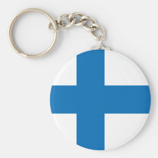 Finland High quality Flag Basic Round Button Key Ring