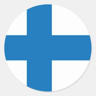 Finland High quality Flag Classic Round Sticker