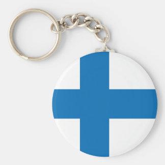 Finland High quality Flag Key Ring