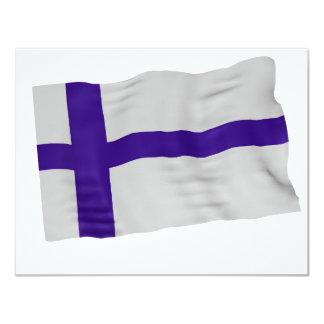 finland 11 cm x 14 cm invitation card