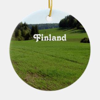 Finland Landscape Christmas Ornament