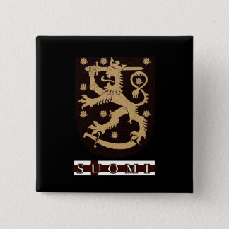 Finland Lion 15 Cm Square Badge