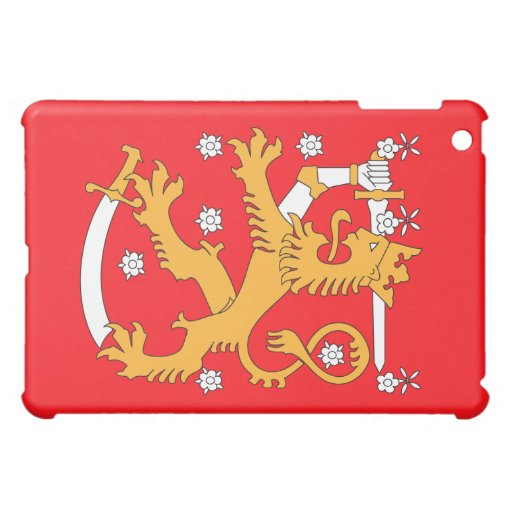 Finland LION Coat of Arms iPad Mini Cases
