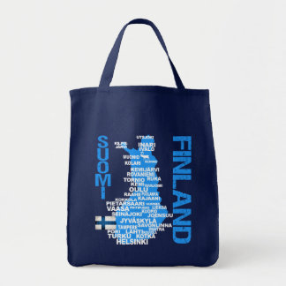 FINLAND MAP bag - choose style, color