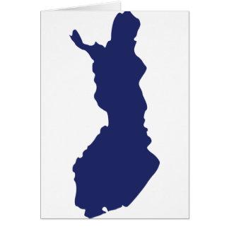 Finland Map Card