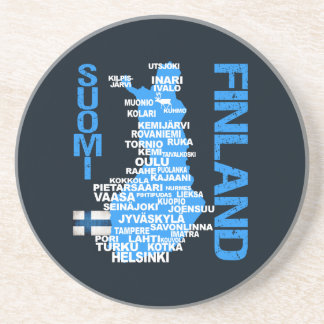 FINLAND MAP coaster