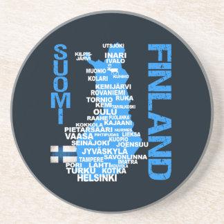 FINLAND MAP coaster