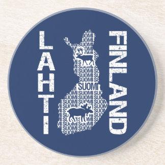 FINLAND MAP coaster - Lahti