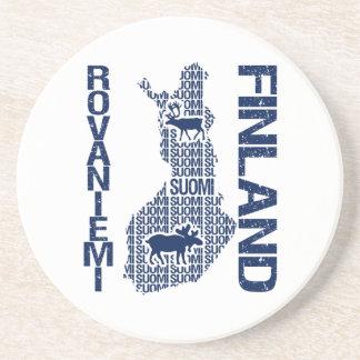 FINLAND MAP coaster - Rovaniemi