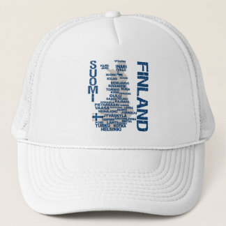 FINLAND MAP hat