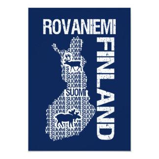 FINLAND MAP invitation - Rovaniemi - customize