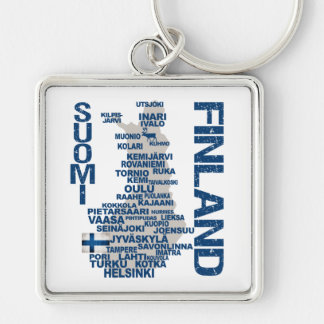 FINLAND MAP key chain