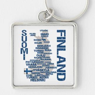 FINLAND MAP key chain