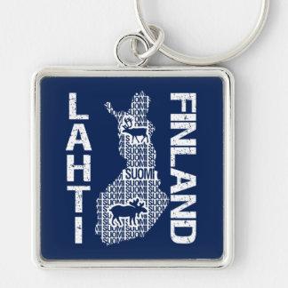 FINLAND MAP key chain - Lahti
