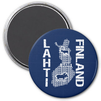 FINLAND MAP magnet - Lahti