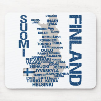 FINLAND MAP mousepad