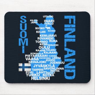 FINLAND MAP mousepad
