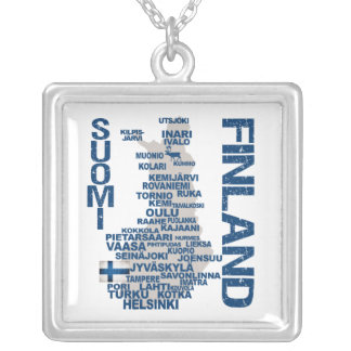 FINLAND MAP necklace