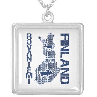 FINLAND MAP necklace - Rovaniemi