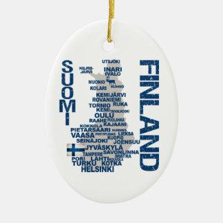 FINLAND MAP ornament - customizable