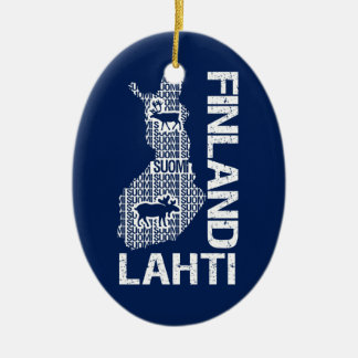 FINLAND MAP ornament - Lahti - customizable