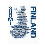FINLAND MAP postcard
