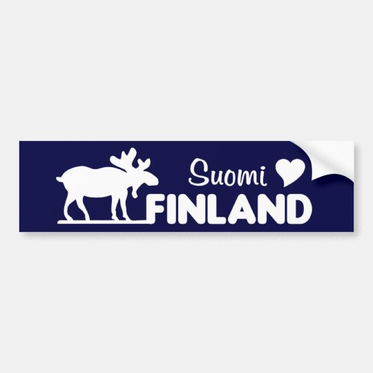Finland Moose bumpersticker Bumper Sticker