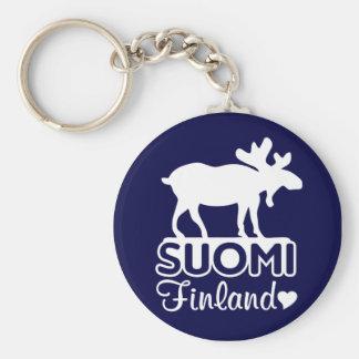 Finland Moose keychain