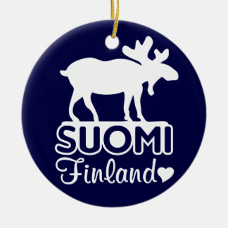 Finland Moose ornament