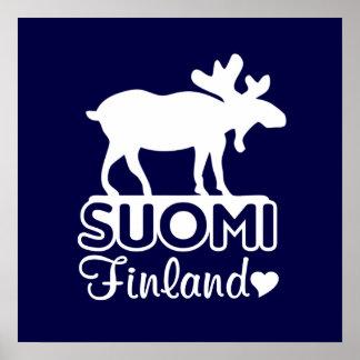 Finland Moose poster