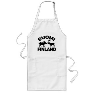 Finland Moose & Reindeer apron - choose style