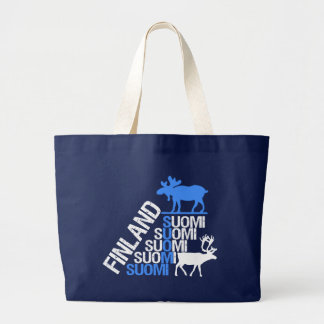 Finland Moose & Reindeer bag - choose style