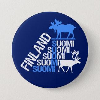 Finland Moose & Reindeer button