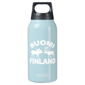 Finland Moose & Reindeer Insulated Water Bottle