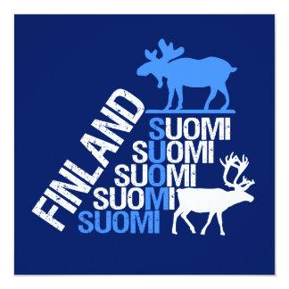 Finland Moose & Reindeer invitation - customize