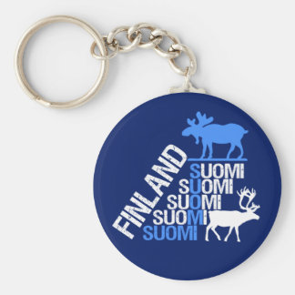 Finland Moose & Reindeer key chain