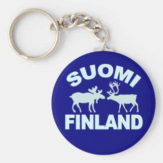 Finland Moose & Reindeer keychain