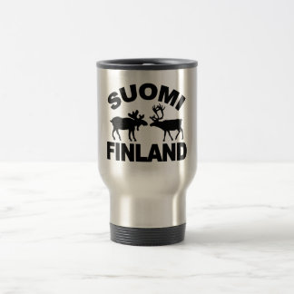Finland Moose & Reindeer mug - choose style