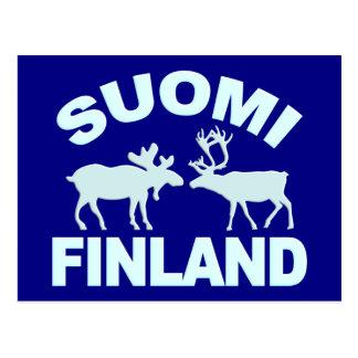 Finland Moose & Reindeer postcard