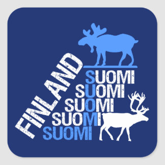 Finland Moose & Reindeer stickers