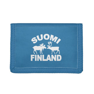 Finland Moose & Reindeer wallets