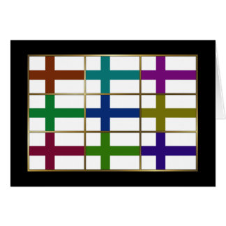 Finland Multihue Flags Greeting Card
