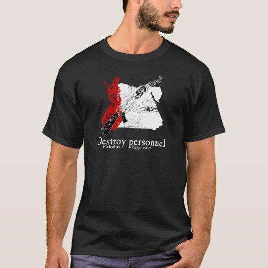 Finland Red, Egypt White T-Shirt
