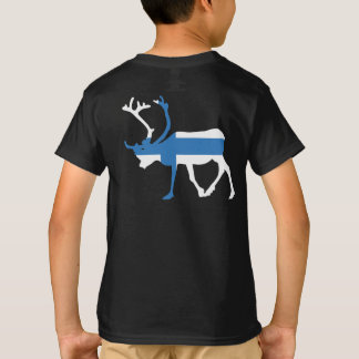 Finland Reindeer Back Kids' T-shirt