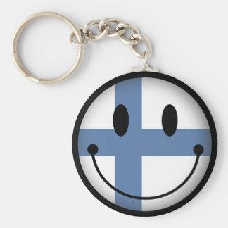 Finland Smiley Key Ring