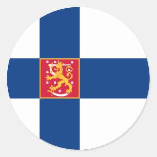 finland state classic round sticker