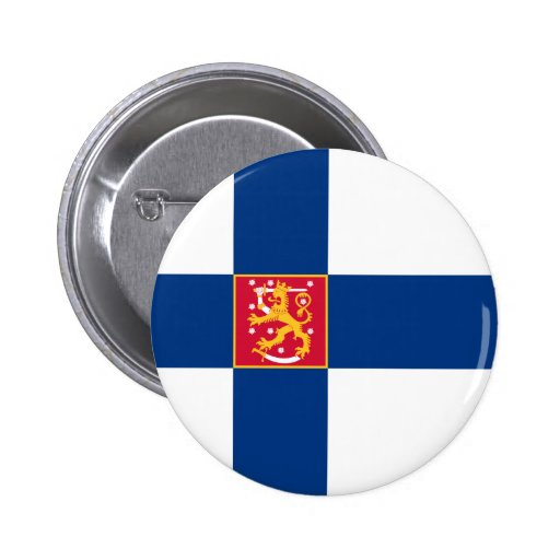 Finland State Flag Button