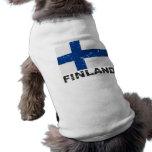 Finland Vintage Flag Doggie T Shirt