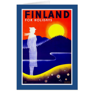 Finland Vintage Travel Poster Card